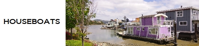 Guide to visiting thr Sausalito Houseboats, including the Taj Mahal and the story of Forbes Island