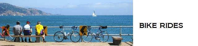 Bike Rides in and to Sausalito, including the Ride Across the Golden Gate Bridge