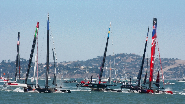 Americas Cup Race by MarkDoliner